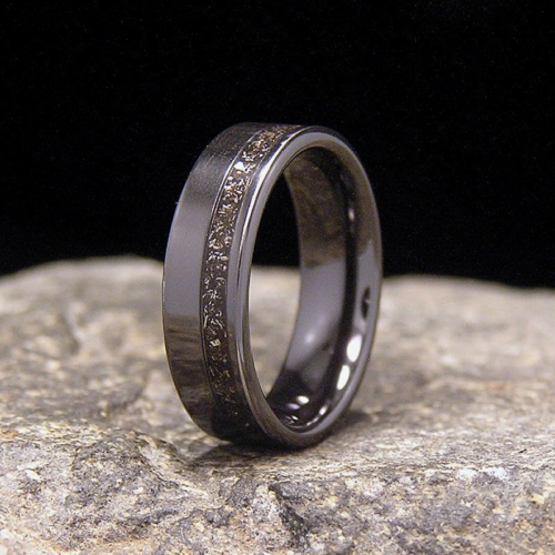 Meteorite Black Zirconium Offset Inlay