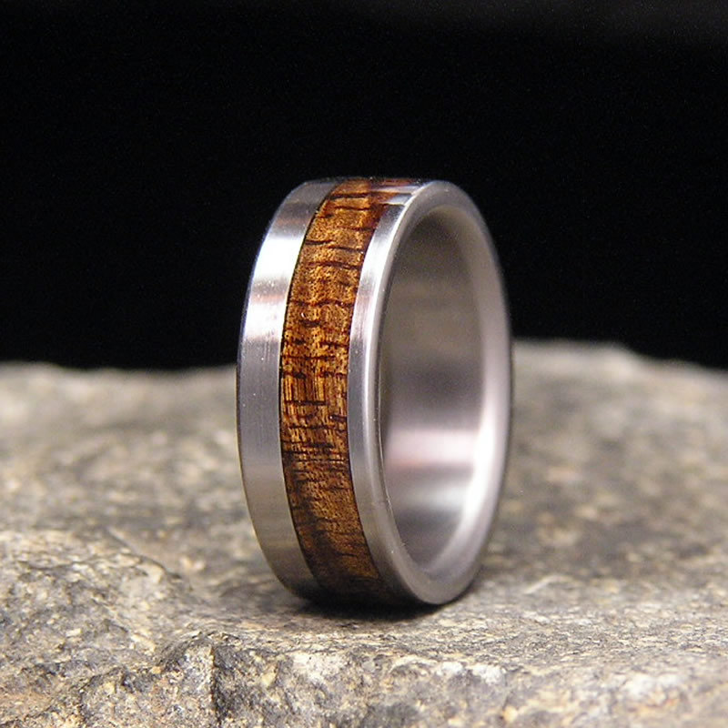 Very Curly Koa Wood Offset Inlay
