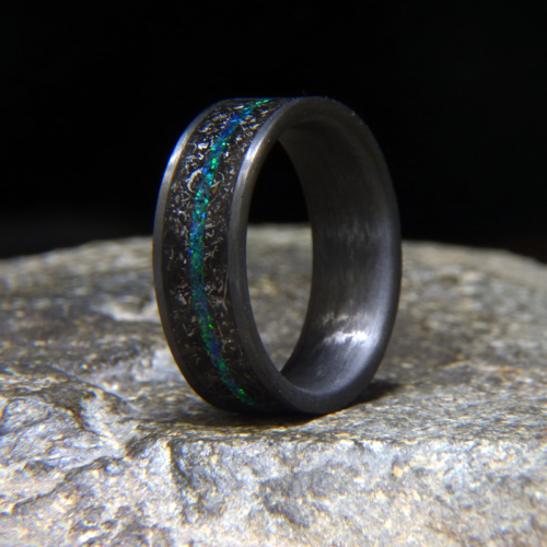 Blue/Green Emerald Opal Inlay